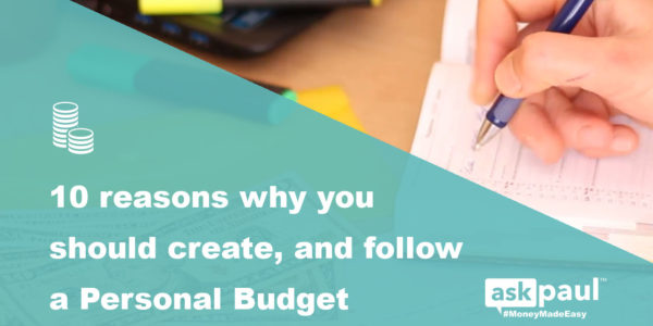 10 Reasons Why You Should Create A Personal Budget in 2019