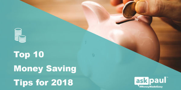 Top 10 Money Saving Tips for 2018