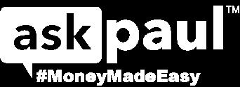 Ask Paul Logo in White